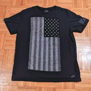 Nike USATF Track And Field USA Flag T Shirt